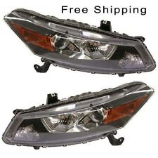 Halogen Head Lamp Assembly Set of 2 LH & RH Side Fits Honda Accord Coupe Model