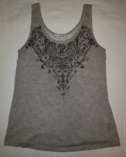 563b67eff8c Womens maurices brand gray tribal floral print sleeveless tank top dress  shirt s