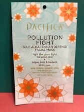 Pacifica Pollution Fight Blue Algae Facial Sheet Mask Kelp All Skin Types 0.67oz