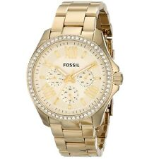 Fossil Women's AM4482 Cecile Multi-Function Champagne Dial Gold-Tone Steel Watch
