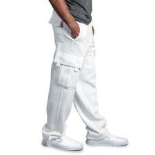 Men Sweatpants Gym Sportswear Workout Elastic Jogger Running Long Trousers Cargo