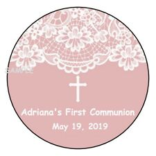 """12 Personalized Baptism Communion Christening Stickers Favors Label tags 2.5"""""""