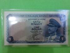 Brunei $1 1967 (aUNC) Government Of Brunei A/4  694275 (RARE)