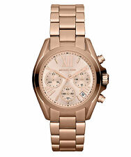 NEW MICHAEL KORS MK5799 LADIES ROSE GOLD BRADSHAW MINI WATCH - 2 YEARS WARRANTY