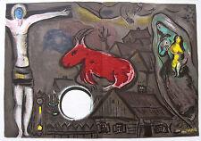 """Marc Chagall DLM doppelnr. 27/28 """"LA NATIVITÉ"""" &"""" le village """"farblithographien"""