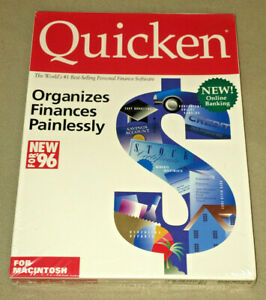 "Quicken Macintosh Version 6 (3.5"") {NEW-SEALED-SHRINK-NEAR MINT}"