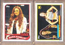 Lita & Maria Kanellis-WWE-2 Card Lot-Both 2018 Topps Heritage-Mint-Divas