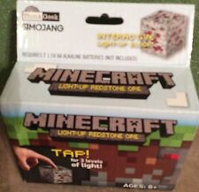 Minecraft Light - UP REDSTONE ORE TAP ! for 3 Levels of Light By Think Geek NEW