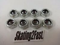 8 New 8mm Lock Nuts Quads Roller Skates 8mm Axle & Wrench Size: 1/2""