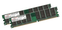2x 512MB 1GB RAM Speicher DDR 266 Mhz PC2100 184 pin