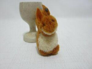 STEIFF 1930s Wool Squirrel FF Button Felt Ears Miniature