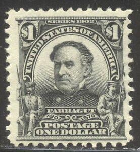 U.S. #311 Mint BEAUTY - 1902 $1.00 Farragut ($600)