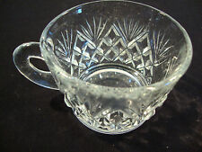 "1 Clear Glass Tea Espresso Coffee Cup Holiday H 2"" Diameter 3"" Chai Star Burst"