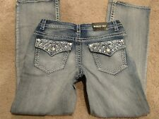 NEW! Paisley Sky Women's Bootcut Jeans, Embellished Pocket, Medium Wash, Size 10