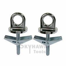 2 Pc Universal Truck Bed Anchor Points Tie Down Hooks Loops Chrome Plated Metal