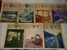 Lot de 7 numéros de la revue  NOTRE METIER - 1938/1939 - S.N.C.F. - Train