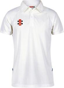 Gray Nicolls Matrix Short Sleeve Mens Polo Shirt - White