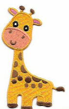 Adorable Giraffe Embroidered Patch / Iron On Applique, Perfect for Kids Clothes