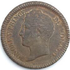 Monaco 1 Décime Honoré V 1838 bronze #1293