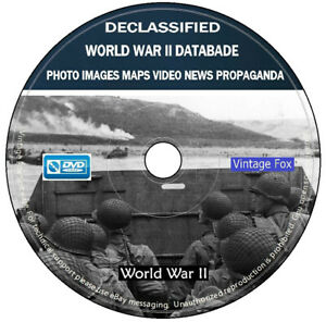 WW2 World War II Declassified Photo Images Maps Video Propaganda Collection DVD