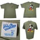 Vintage 80s Mickey Mouse Shirt Disney Velva Sheen Size Medium U.S.A VTG Unisex