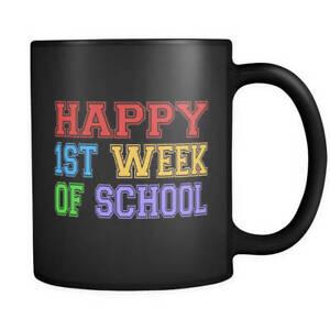 Back to School Gift, Back to School Mug, First Day of School Gift, Black Mug, 1s