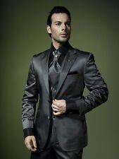 Edler Luxus Hochzeitsanzug Miteksan 2 teilig Grösse 48 Schwarz Silber