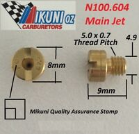 Mikuni Carb N100.604 large round main Jet. 8mm head with 5mm thread OD