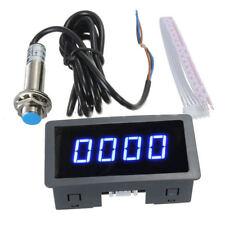 azul LCD digital Tacómetro medidor de horas Calibrador  Achometer Probador RPM