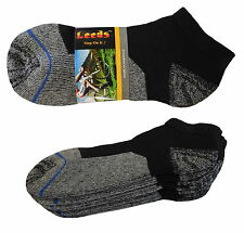 4 PK LOWCUT PREMIUM QUALITY HEAVY THICK SOCKS COTTON BLACK NO SHOW CUSHION SOCKS
