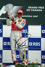 Lewis Hamilton Signed 8X12 Inches 2007 Canada GP F1 Photo with Proof