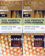 2) Loreal Age Perfect Hydra Nutrition Honey Eye Gel Manuka 0.5 oz ea 6/21 FRESH!