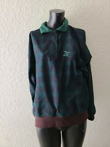 Zero Restriction Women's Small Golf Outerwear Pullover Plaid Jacket 1/4 Snap