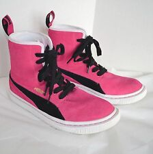 Puma Sneaker Women 11 Eco Ortholite Pink Suede Black High Top Trainer Sport Shoe