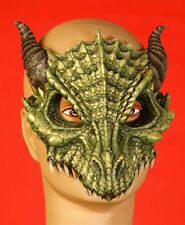 Deluxe Green Dragon Half Mask Rubber Lizard Dinosaur Alien Bird Game of Thrones