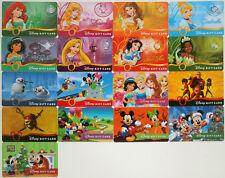15 Disney Gift Cards 2014: 6 Princess Debut, Olaf, Dumbo, Pirates, Incredibles +