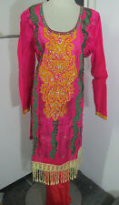 Pakistani  silk whit full embroider  salwar kameez SIZE 2XL46