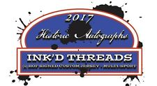2017 HISTORIC AUTOGRAPHS INK'D THREADS HOBBY BOX SEALED