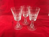 """Lovely Waterford Crystal Kenmare Wine Water Glasses Goblets Set of 3 - 6"""" tall"""