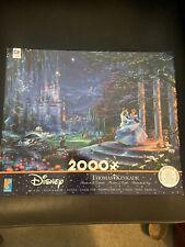 Thomas Kinkade Disney Cinderella 2000 Pc Puzzle DISNEY CASTLE Ceaco Brand