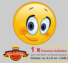 Aufkleber Smiley Emoji Auto verliebt verlegen Love Liebe schüchtern Auto Sticker