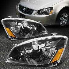 FOR 2005-2006 NISSAN ALTIMA PAIR BLACK HOUSING AMBER CORNER HEADLIGHT/LAMP SET