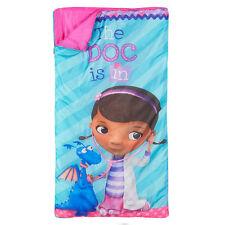 Camping Slumber Sleeping Bag + Backpack Disney Doc McStuffins Girl Age 3+ NEW