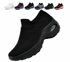 Womens Trainers Air Cushion Slip On Breathable Sneakers Sport Running Shoes Size