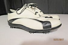 FootJoy LoPro Women's White & Black Leather Golf Shoes Soft Spike Size 9 M