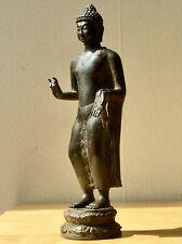 Standing bronze Majapahit BUDDHAPAD Buddha, JAVA, 14th/15th C Indonesia