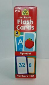 School Zone Get Ready 1-100 Flash Cards Alphabet and Numbers