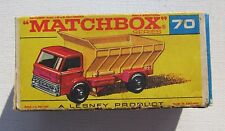 VINTAGE LESNEY MATCHBOX #70B GRIT-SPREADING TRUCK WITH ORIGINAL BOX