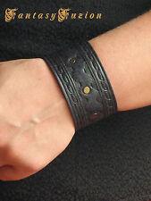 Leather Rocker Fashion Tooled Design Cuff Bracelet
