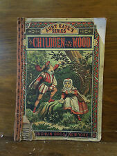 Antique McLoughlin Bros Aunt Kate's Series Children in the Wood Soft Cover Book